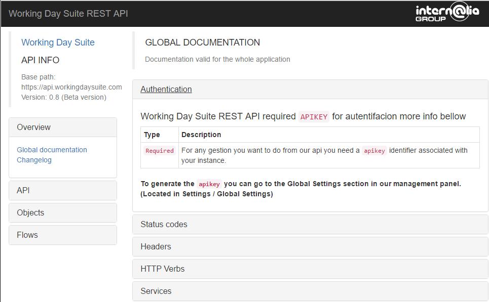 Documentación WDS API REST