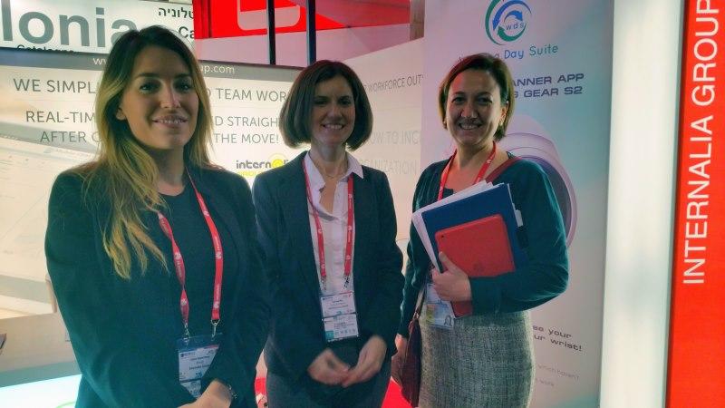 Internalia Group, delegada de Barcelona, Directora de Marketing y Responsable de Organización de Setsi ( Laura Allsop, Gema Casquero, Elena Bravo)